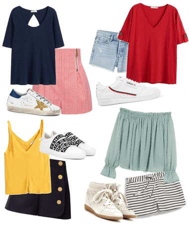 simple sneakers outfits