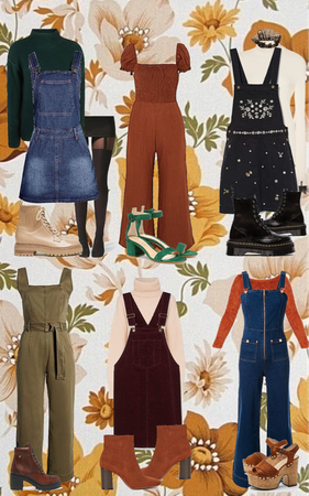 Fall Pumpkin Picking Jumpsuit Outfits
