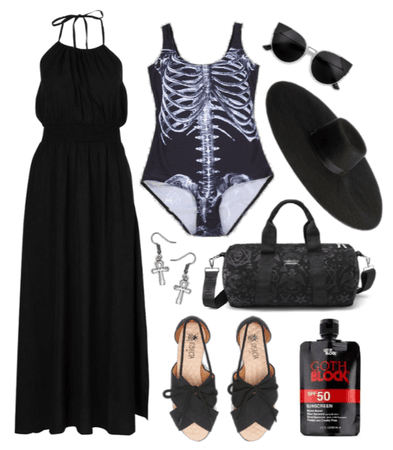 goth at the beach