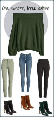 one sweater, three options