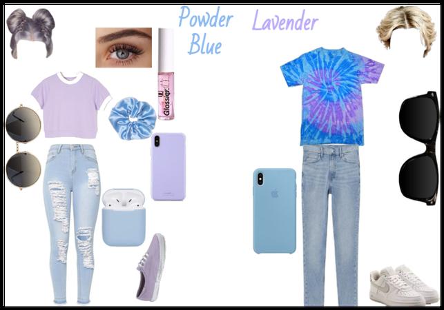 Powder Blue and Lavender Challenge