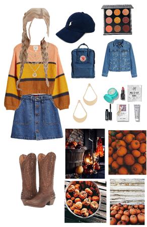 Pumpkin Pickin' Cowgirl 🍁🐮