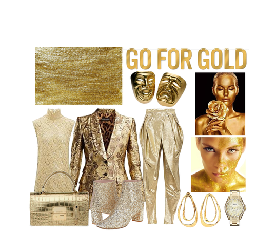gold glam