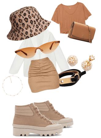 brown look 🧎🏽♂️