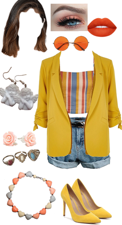 aesthetic yellow vintage babe