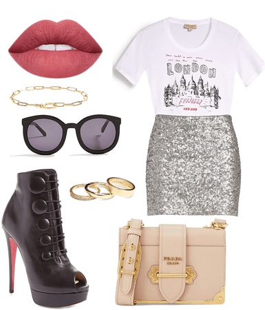 Sequin Skirt: Casual