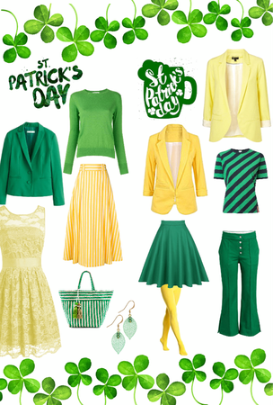 Happy St.Pat's Day (Green & Yellow)