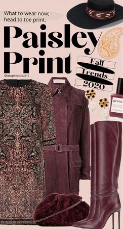 Fall trend 2020: maroon & paisley