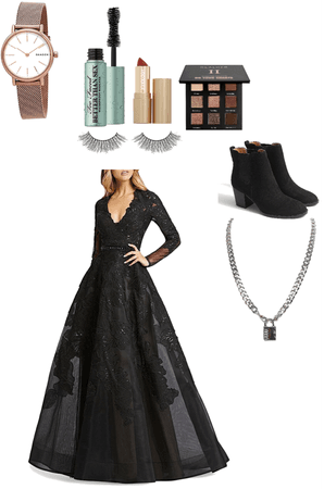 A ball gown outfit