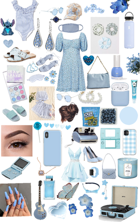 Light blue summer