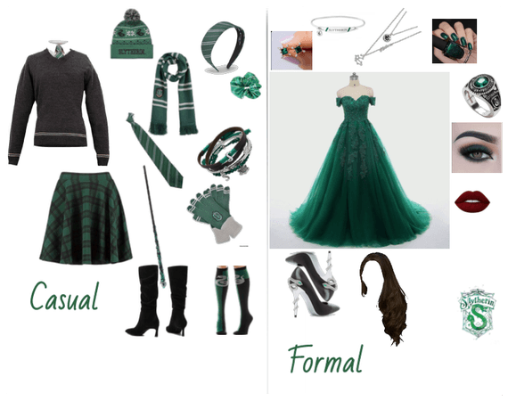 Slytherin Casual + Formal | Harry Potter