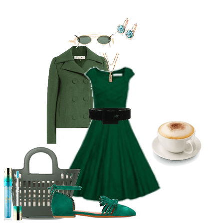 Green Lady and a cappuccino