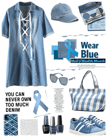 Wear blue for mens health