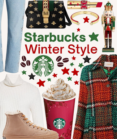 winter with a Starbucks