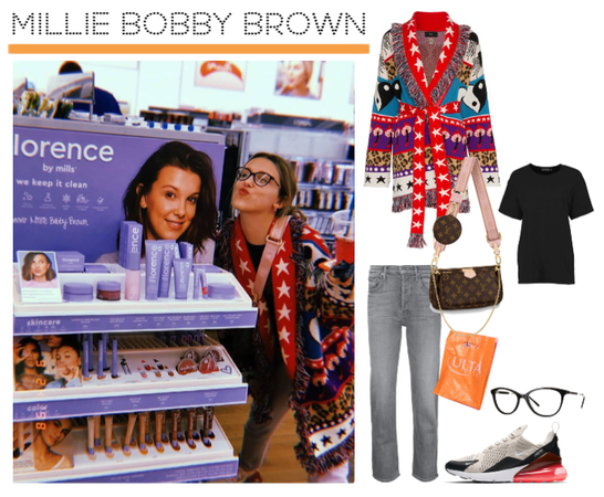 Millie Bobby Brown wearing Alanui