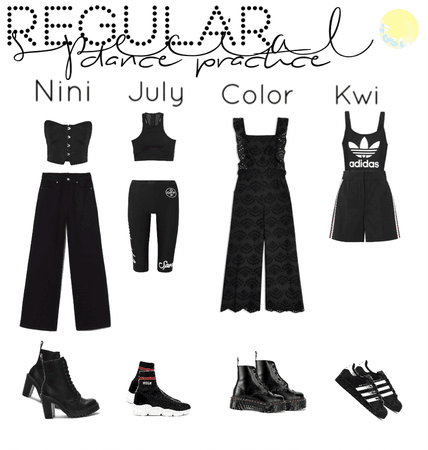 regular special dance practice outfits