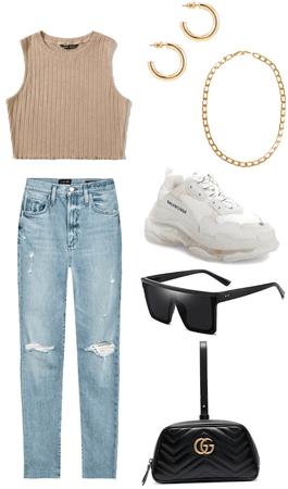 Beige & Blue Jeans