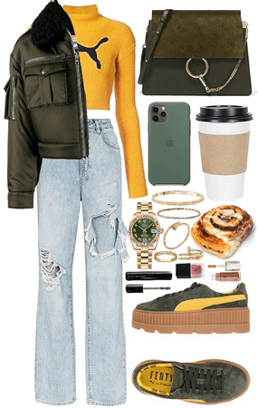 cozy everyday outfit 💚