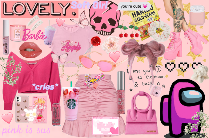 among us pink fit