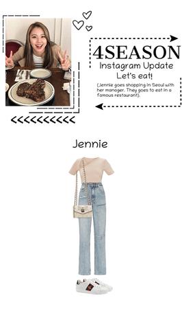 """-4SEASON- Instagram Update """"Jennie"""" Let's Eat!"""
