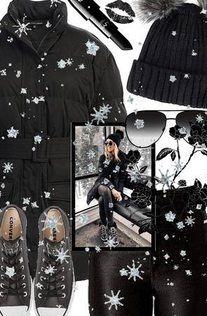 Black Ski Trip Style!