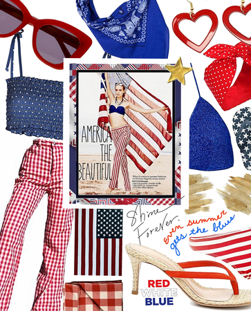 on the 4th | red white & blue