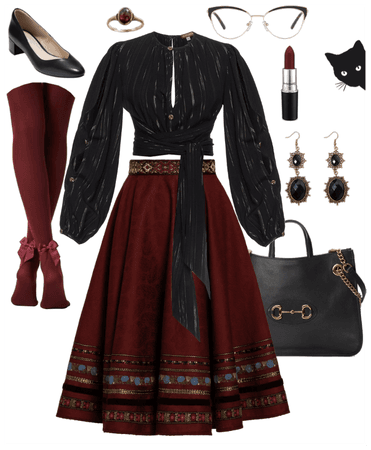 Earthy Red Black and Gold