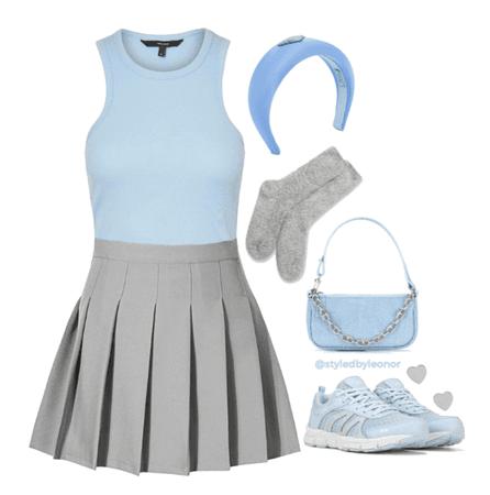 Baby Blue School Girl Look