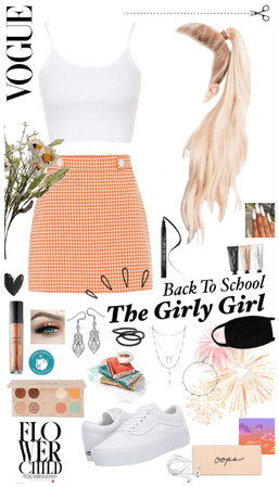 pastel girly girl school outfit
