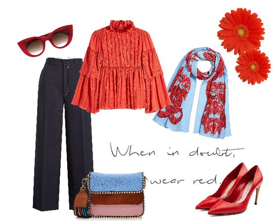 When in doubt, wear red.