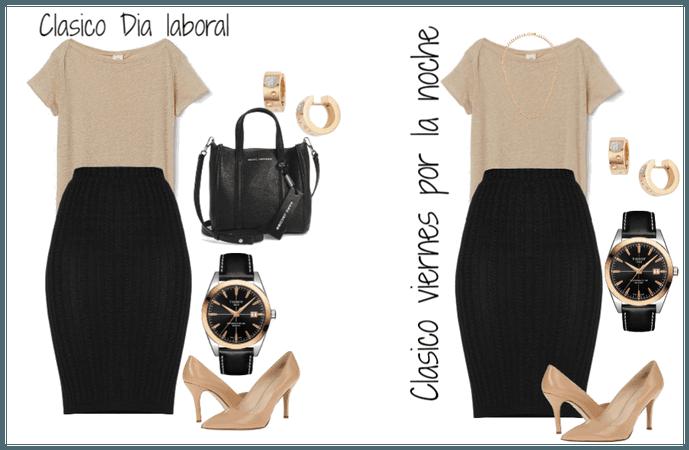 Outfit Clasico con uso de accesorios dia y noche