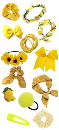 Yellow hair accessories