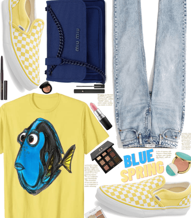 Finding Dory in Blue and Yellow Spring