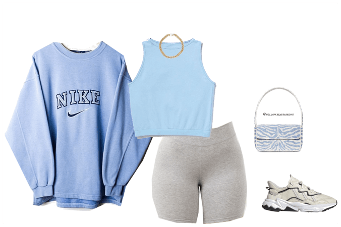 Blue Monochromatic Gym Fit