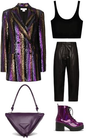 purple magician chic