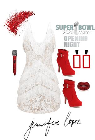 J Lo Super Bowl Style