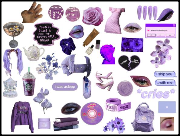 purple mood board