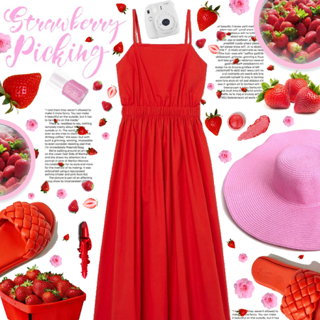 🍓🌸❤️ strawberry picking ❤️🌸🍓