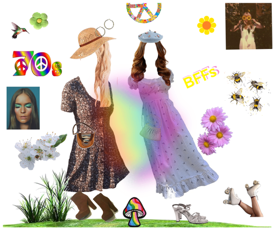 70's Springtime with BFF