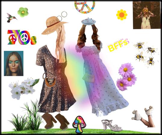 70's Springtime with BFF