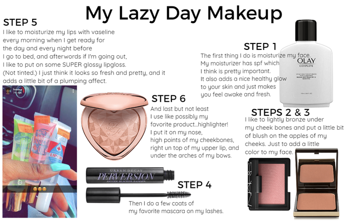 My Lazy Day, 6 Step Makeup Routine