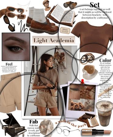 light academia 🤎 -for challenge-