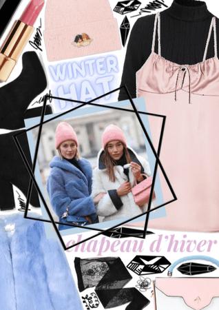 Pastel Winter Hat 💗💙