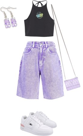 purple-black summer outfit