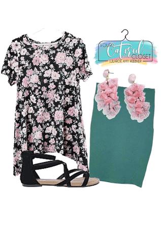 pink floral Melissa & blue green Cassie