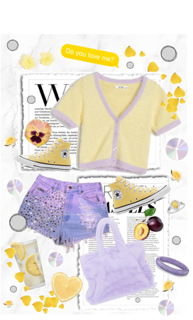 I love yellow and purple together! Opposites Attract!