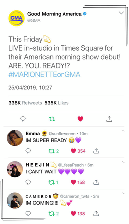 {MARIONETTE} Good Morning America Twitter Update