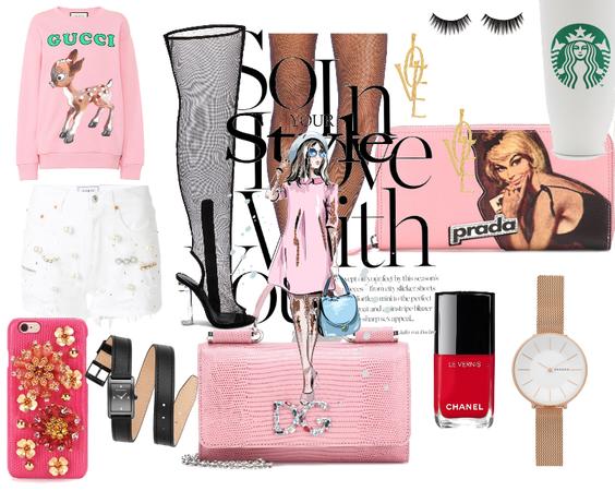 splurge in pink