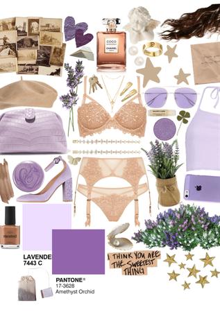 lavender and cream