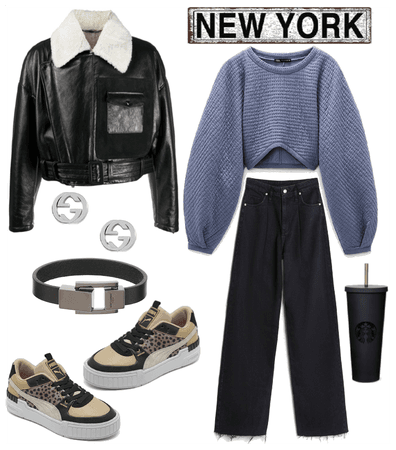 NewYork #black#casual
